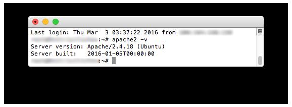 Проверяем версию Apache