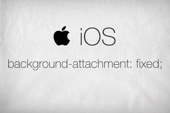 background-attachment: fixed в устройства от Apple